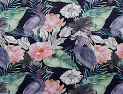 Aquarell Blumen Vogel