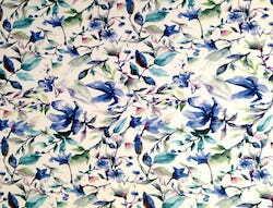 Gemalte Blumen blau