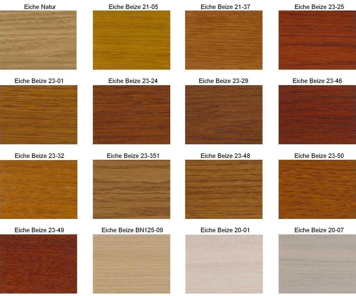 M-Deko Verfügbare Farben der Holzbeize