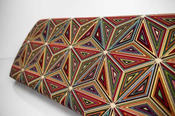Gepolsterte Sitzbank M-DEKO LGM-12 nach Maß, Sitz aus Velvet Muster Malawi und Metallbeine