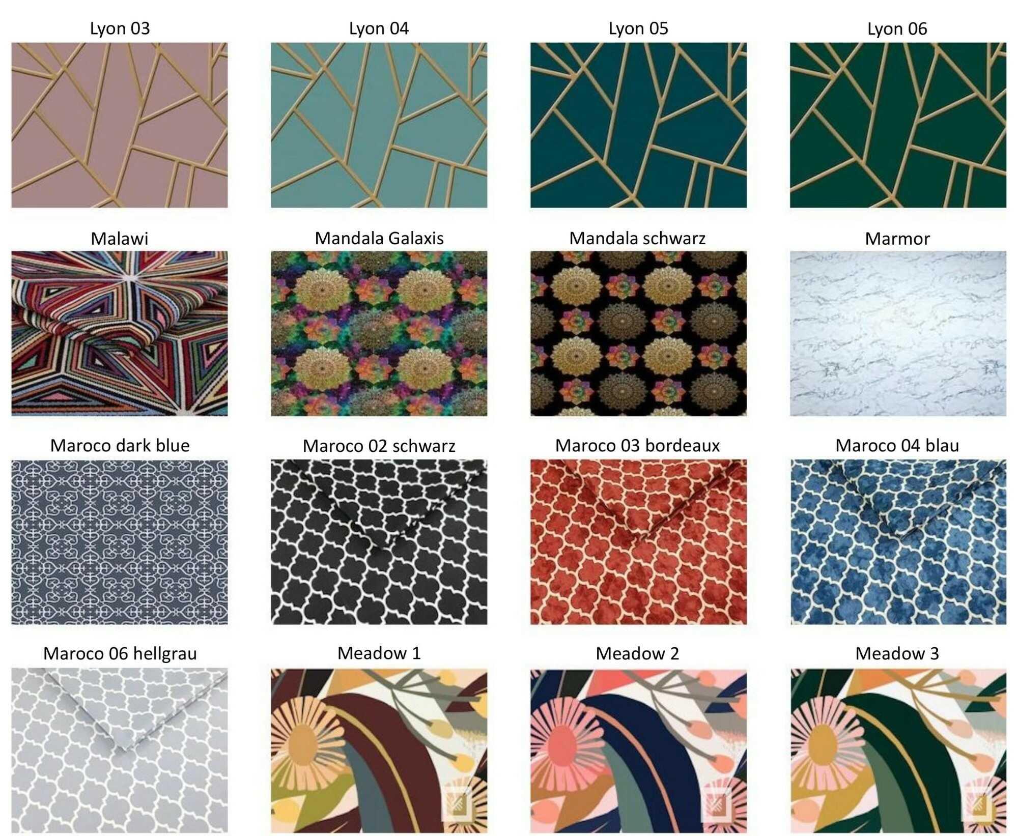 M-DEKO Verfügbare Muster aus Polstervelours Teil 10