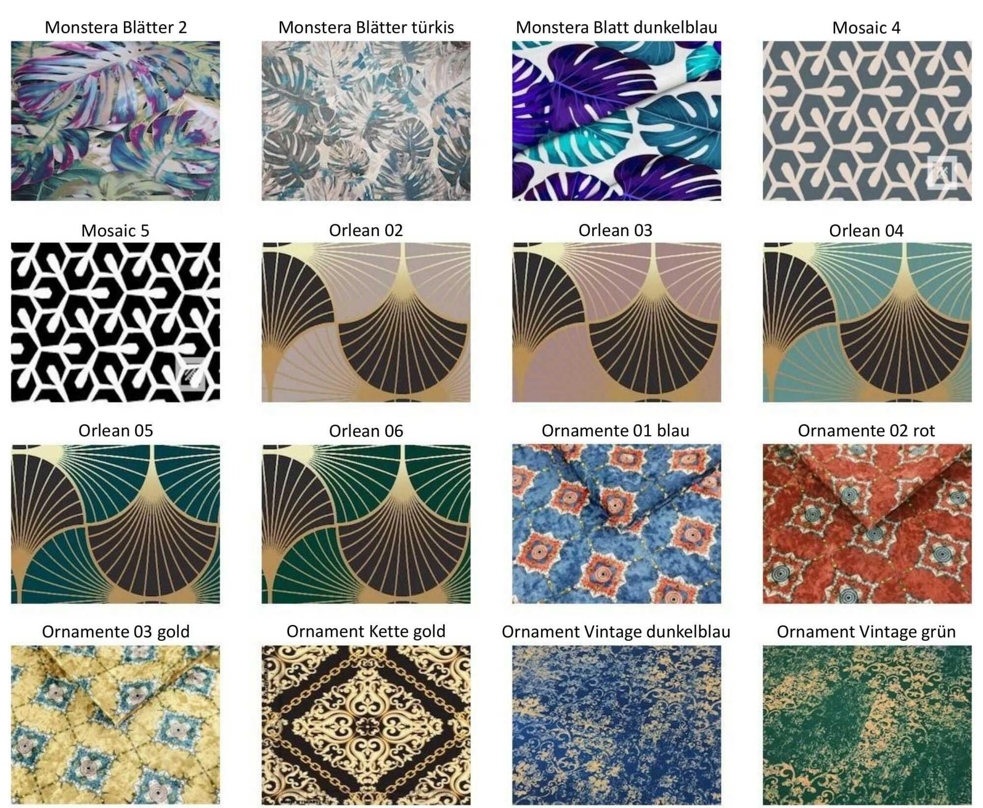 M-DEKO Verfügbare Muster aus Polstervelours Teil 11