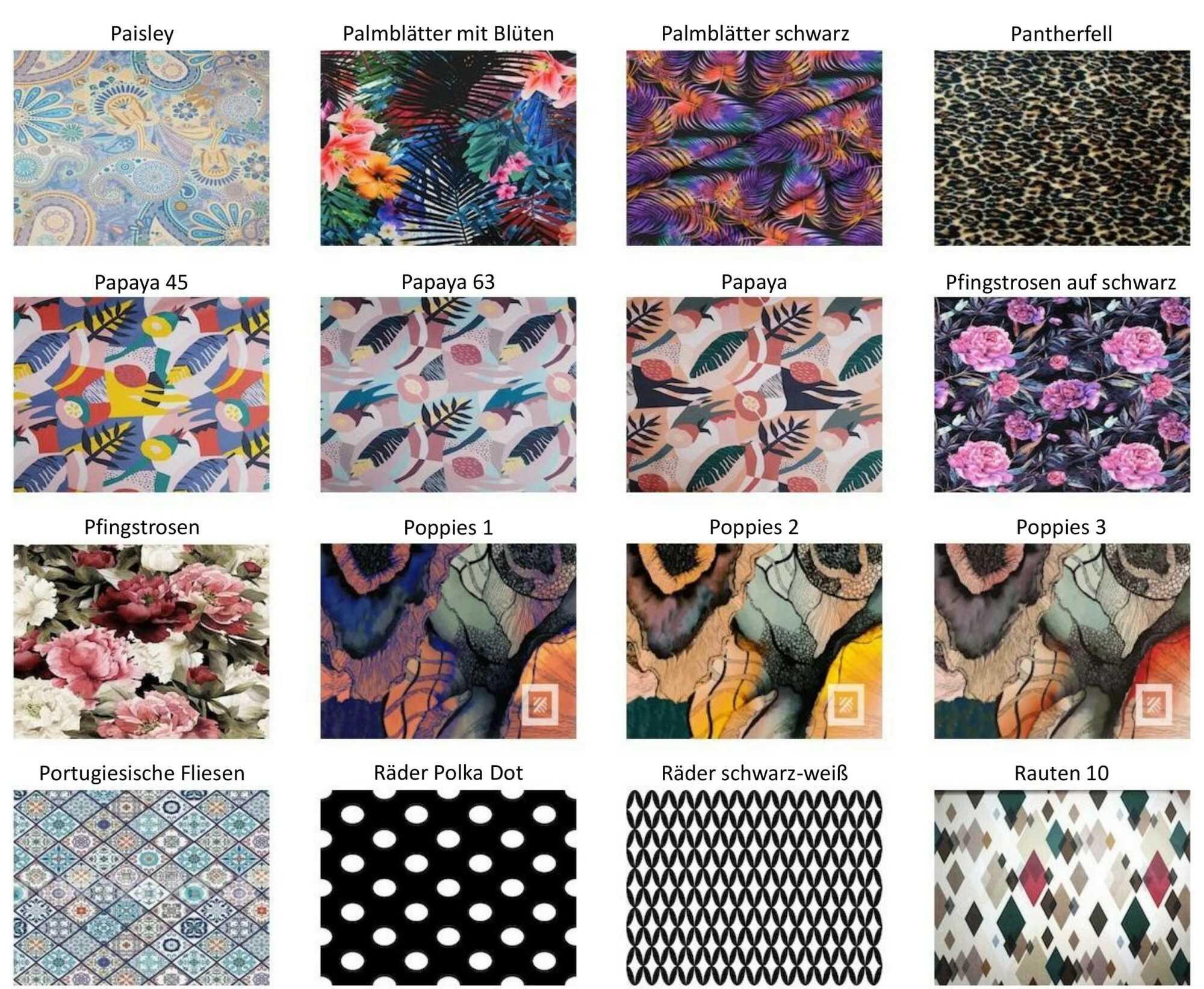 M-DEKO Verfügbare Muster aus Polstervelours Teil 12
