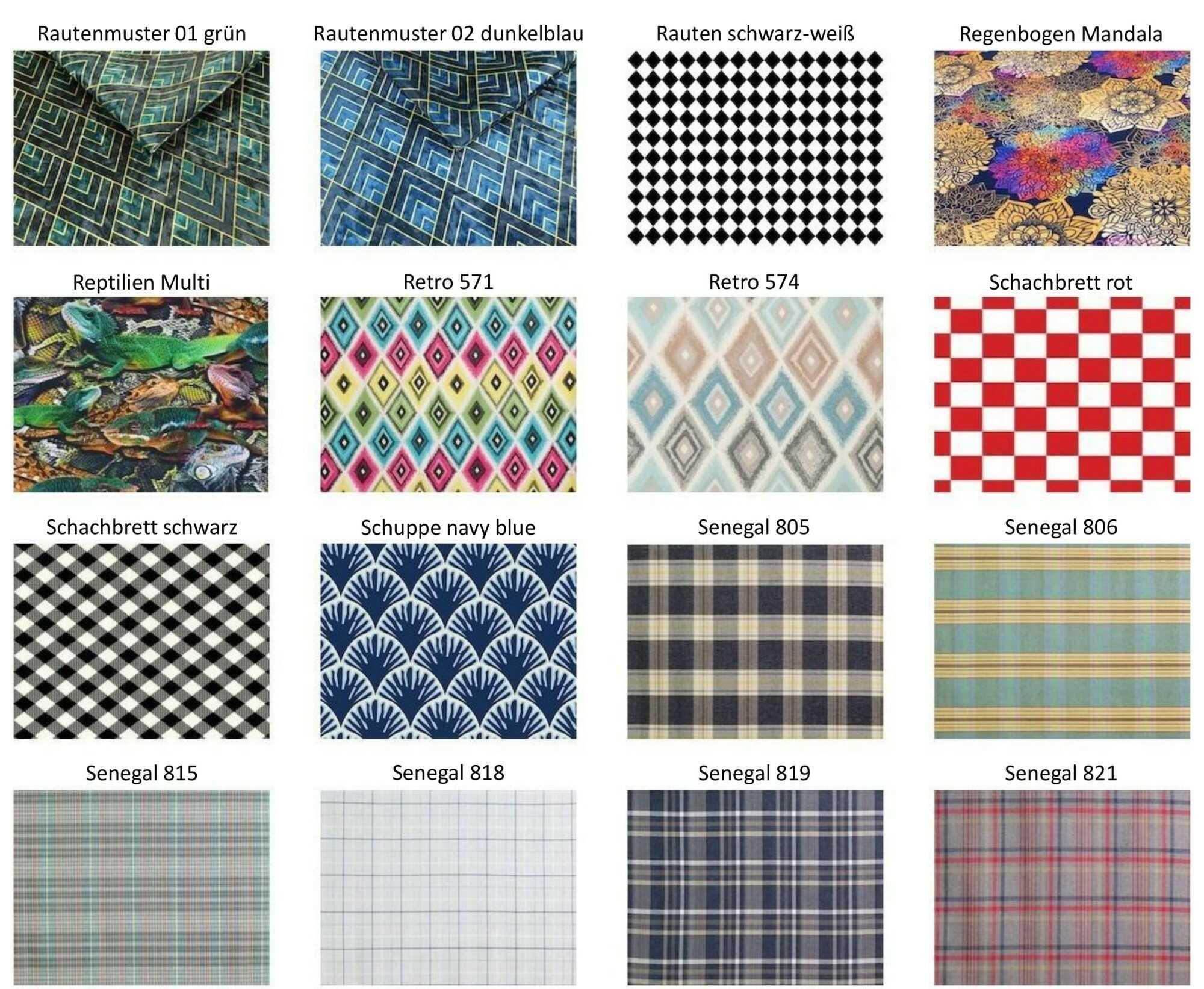 M-DEKO Verfügbare Muster aus Polstervelours Teil 13