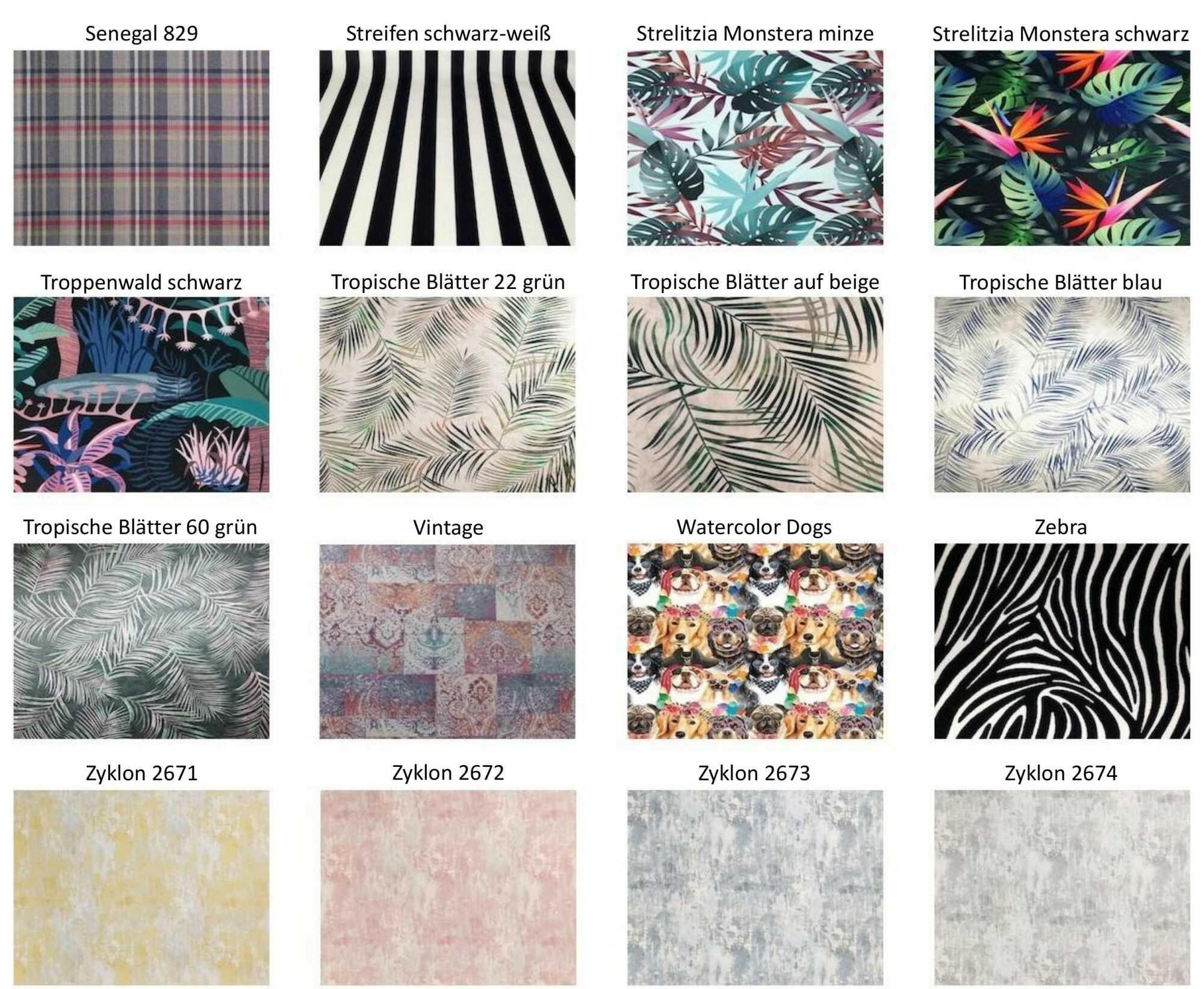 M-DEKO Verfügbare Muster aus Polstervelours Teil 14