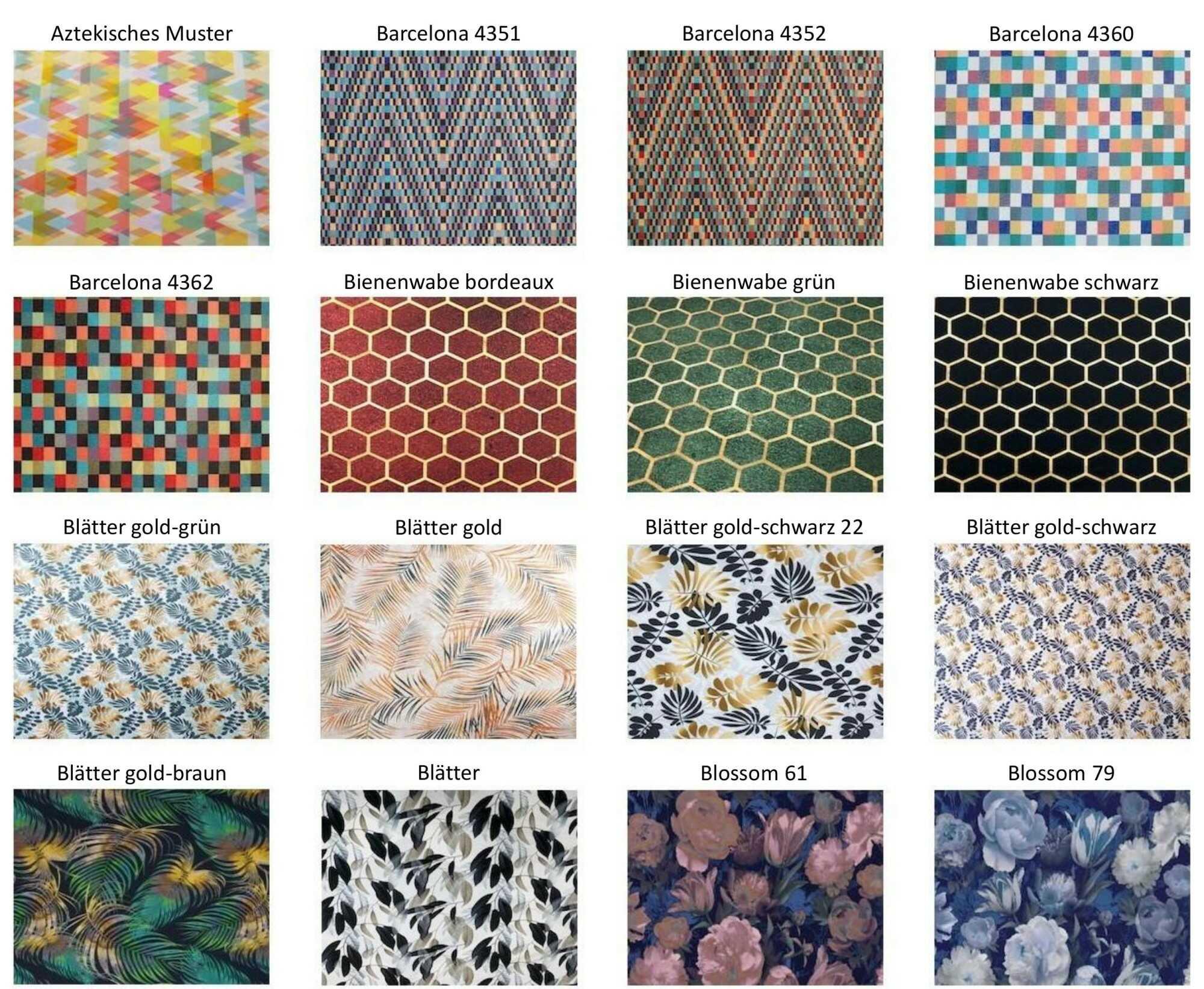 M-DEKO Verfügbare Muster aus Polstervelours Teil 6