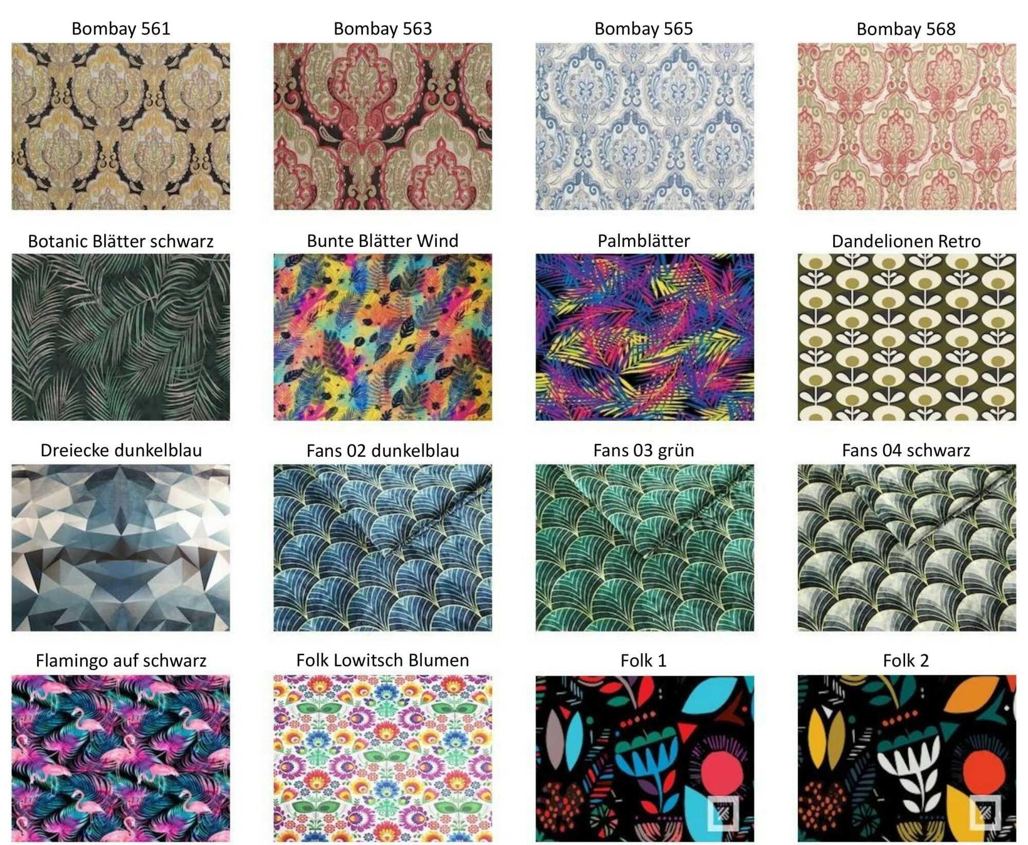 M-DEKO Verfügbare Muster aus Polstervelours Teil 7