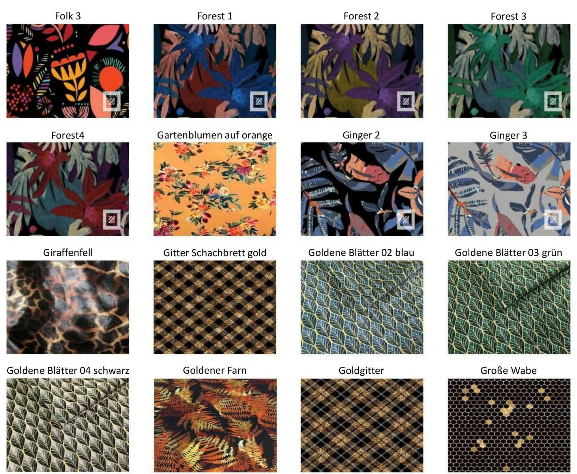 M-DEKO Verfügbare Muster aus Polstervelours Teil 8