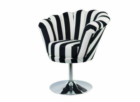Sessel Loungesessel M-DEKO Modell LUX-1, Drehbar, Bezug aus gemustertem Velours