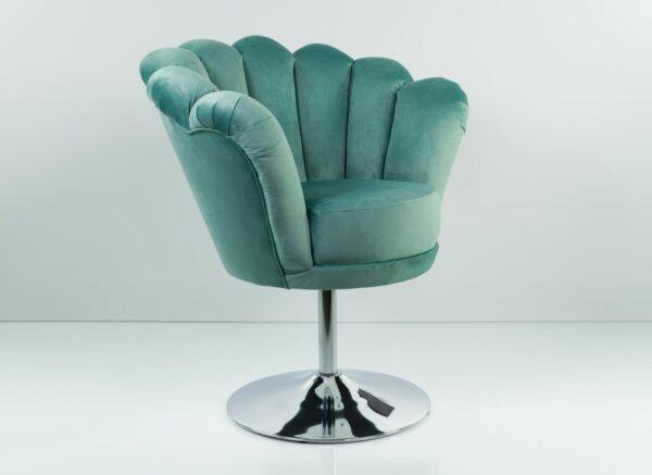 Loungesessel M-DEKO Modell LUX-1, Sessel mit Drehfunktion, Bezug aus Velours in vielen Farben erhältlich