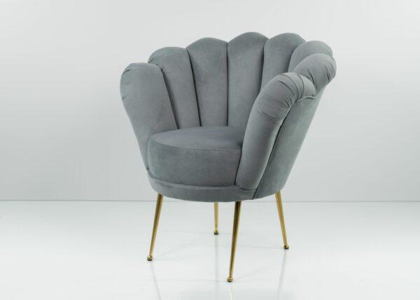 Sessel Loungesessel M-DEKO Modell LUX-3, Rundsessel mit Bezug aus Velours in vielen Farben erhältlich