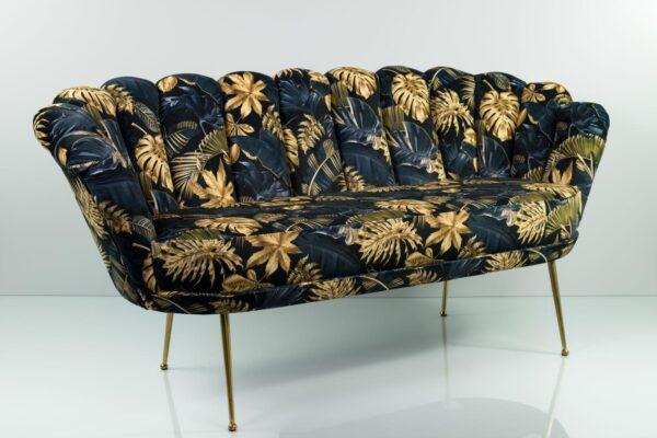 Sofa Loungesofa M-DEKO Modell LUX-4, Couch mit Veloursbezug in vielen Farben und Mustern erhältlich