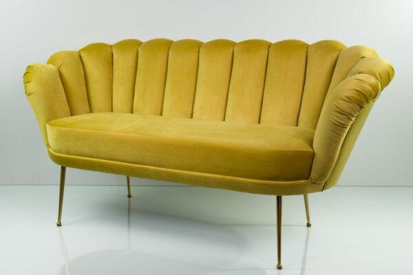 Sofa Loungesofa M-DEKO Modell LUX-4, Couch mit Bezug aus Velours in vielen Farben erhältlich